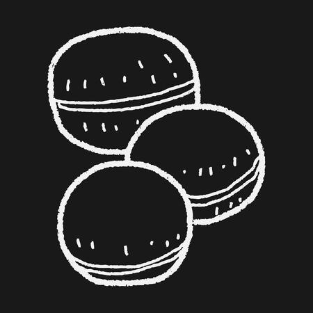 macaron: macaron doodle