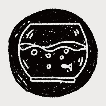 doodle pet fish Vector