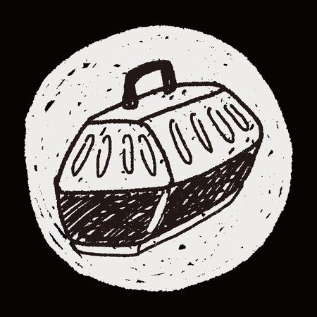 transporteur: doodle transporteur animal Illustration