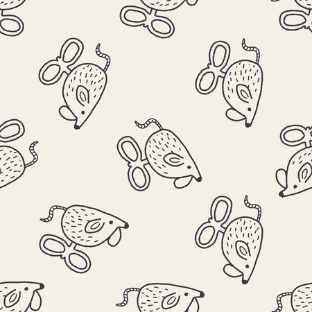 doodle toy mouse seamless pattern background Vector