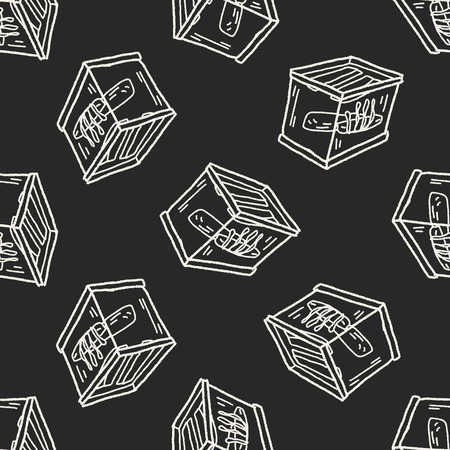 fishbowl: aquarium doodle seamless pattern background