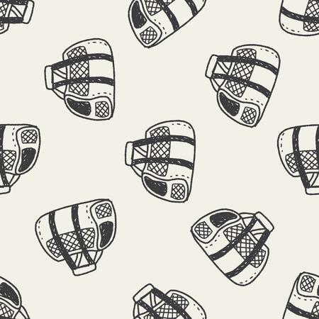 carrier: doodle pet carrier seamless pattern background Illustration