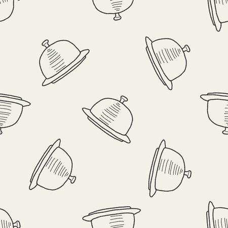 bandeja de comida: alimento bandeja del doodle de fondo de fisuras Vectores