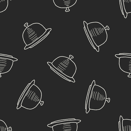 food tray: food tray doodle seamless pattern background Illustration