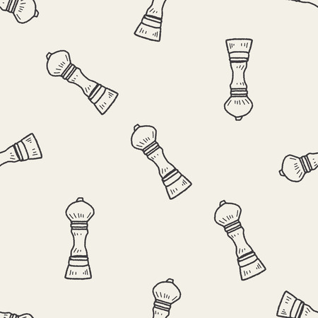 pepper mill: pepper mill doodle seamless pattern background