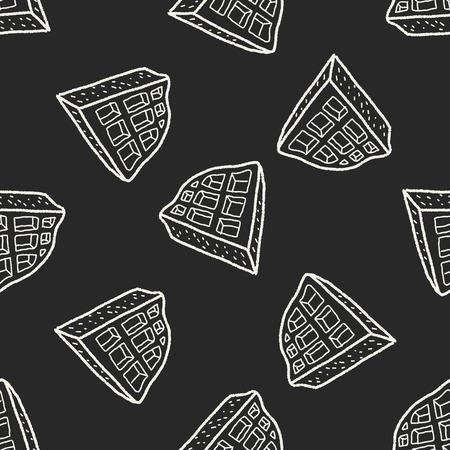 waffle: waffle doodle seamless pattern background