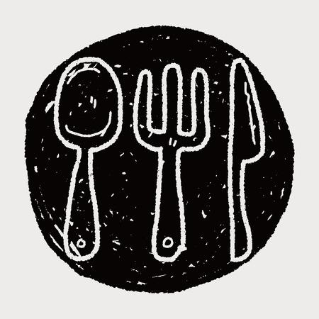 dishware: dishware doodle Illustration