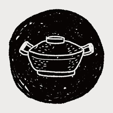 pan doodle Illustration