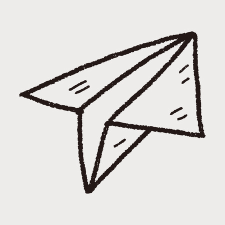aero: paper airplane doodle Illustration