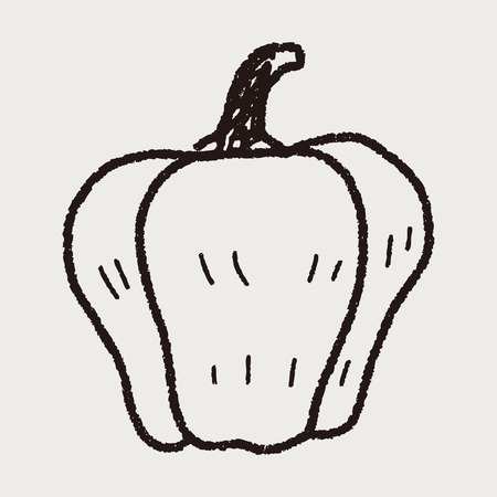 bell pepper: Bell pepper doodle
