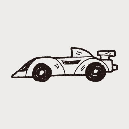 racing doodle Stok Fotoğraf - 38551260