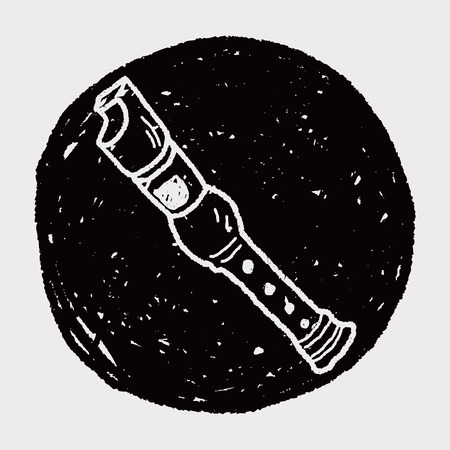 recorder doodle Vector
