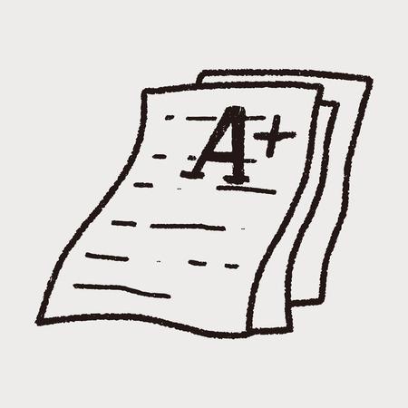 test papper doodle Vector