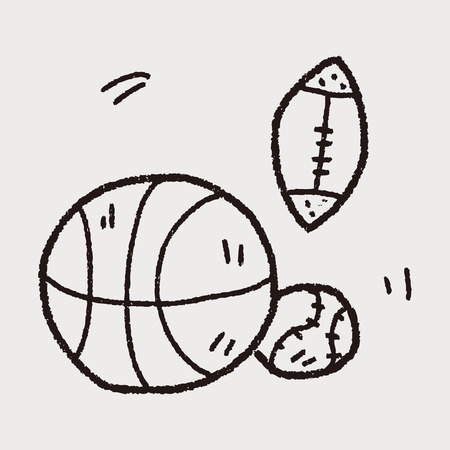 sport ball doodle Vector