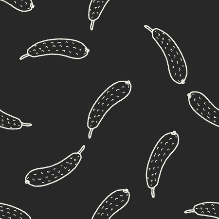gherkin: Gherkin doodle seamless pattern background