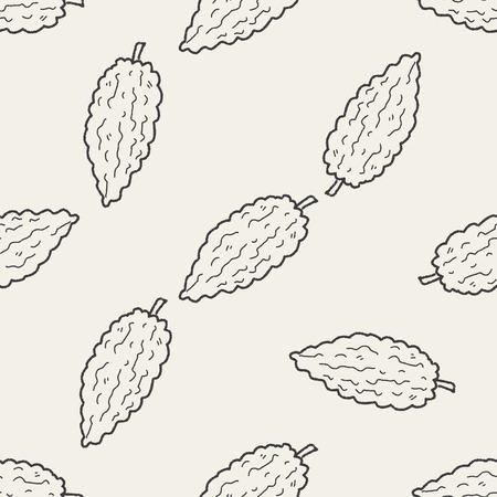 bitter: Bitter doodle seamless pattern background Illustration