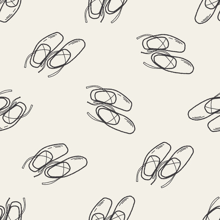 pointes: ballet shoes doodle seamless pattern background