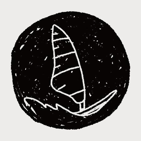 windsurfing: doodle windsurfing