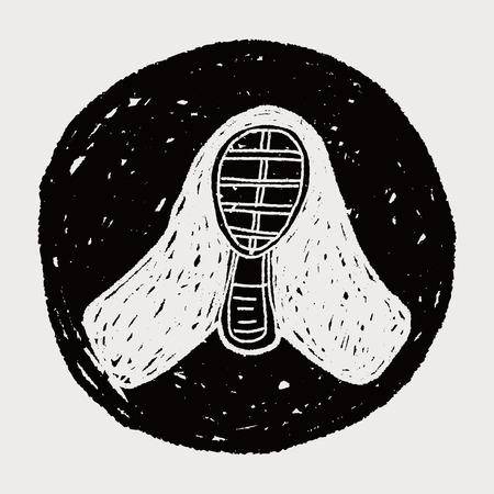 kendo: kendo doodle Illustration