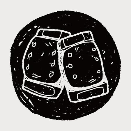 elbow pads: knee pads doodle