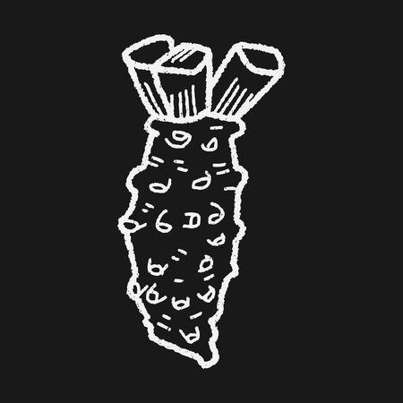 mustard: Mustard doodle Illustration