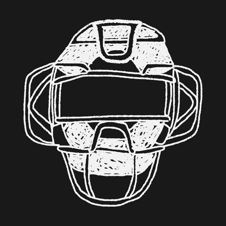 baseball catcher: baseball catcher doodle