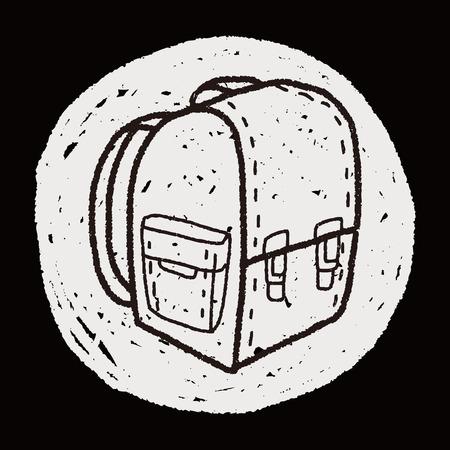 student travel: doodle School bag Illustration