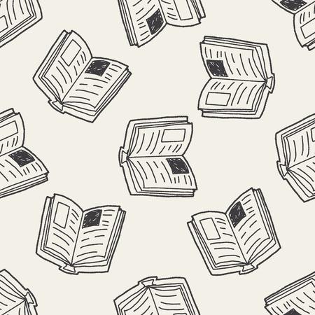 doodle boek naadloze patroon achtergrond