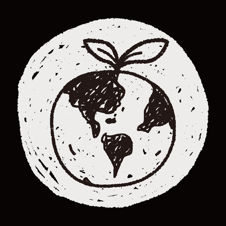 protect concept: Environmental protection concept; Protect our environment, protect our planet; doodle Illustration