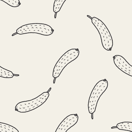 the gherkin: Gherkin doodle seamless pattern background