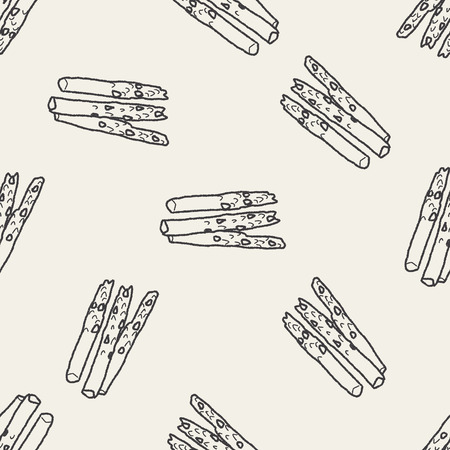 asparagus: asparagus doodle seamless pattern background Illustration