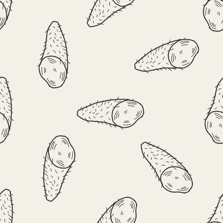 yam: Yam doodle seamless pattern background