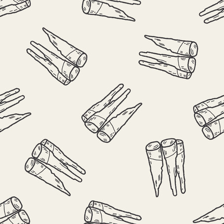 sparare: Bamboo shoot di doodle seamless