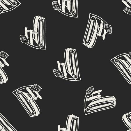 treadmill: treadmill doodle seamless pattern background