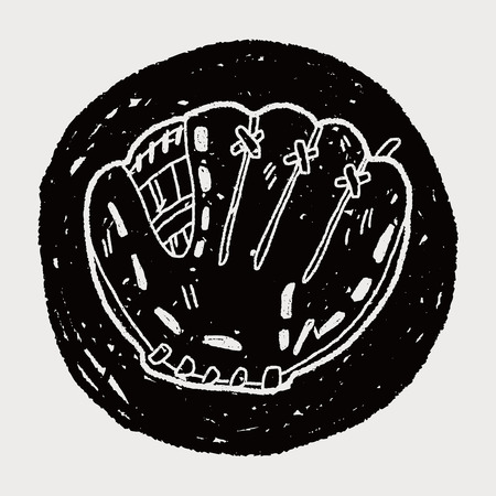 guante de beisbol: Doodle guante de b�isbol