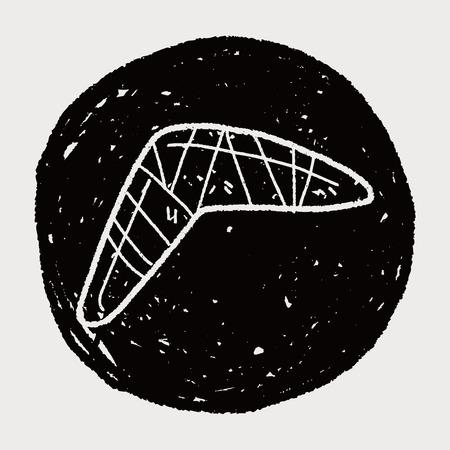 boomerang doodle Vector