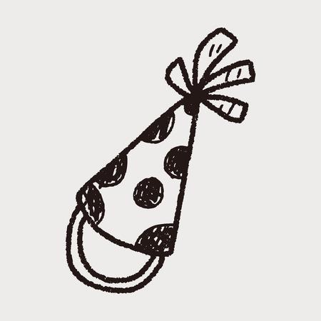 gorros de fiesta: sombreros de fiesta del doodle