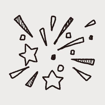 night art: doodle firework