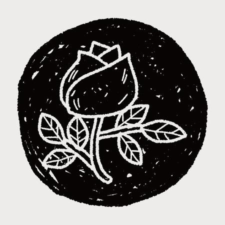 flower rose: doodle flower rose