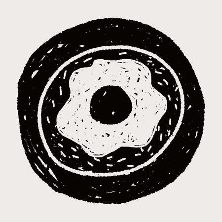 Doodle Donuts Vector