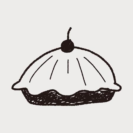 pie food doodle Vector