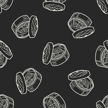 dumpling: dumpling doodle seamless pattern background