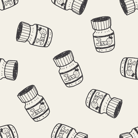 jams: jam doodle seamless pattern background