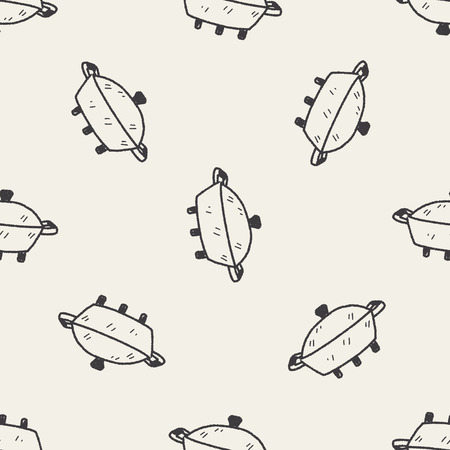 pot doodle seamless pattern background Vector