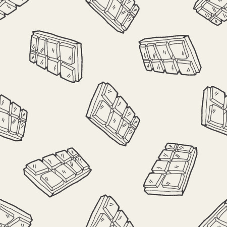 chocolate: Doodle Chocolate seamless pattern background