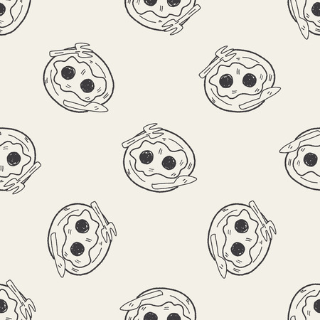 sunny side up: egg doodle seamless pattern background