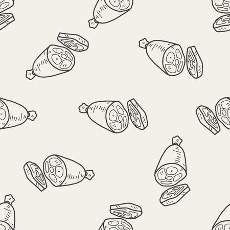 costillas de cerdo: doodle de jam�n de fondo de fisuras