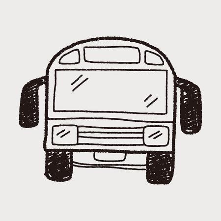 autobus escolar: Doodle de autobús Vectores