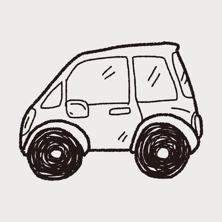 carro caricatura: doodle de coche Vectores