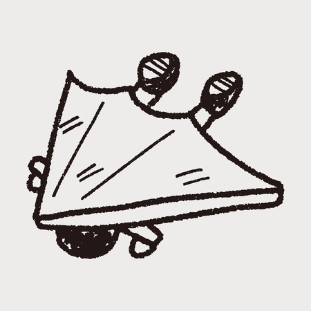 Hang gliding doodle